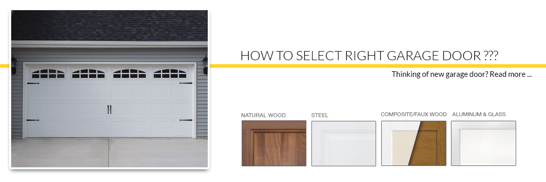 How to Select the Right Garage Door